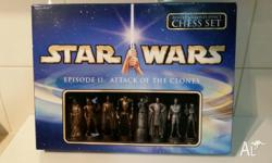 STAR WARS EPISODE II: ATTACK OF THE CLONES Chess Set.