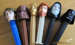 We have for sale 6 characters from Star Wars and 1