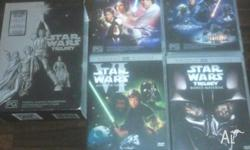 4 DVDs- A New Hope The Empire Strikes Back Return of