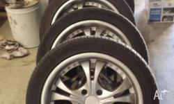 "Starcorp 17"" Mags. Tyres all legal tread, 235 45 17"