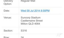 I Have purchased two silver licenced game 3 tickets for