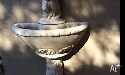 Elegant concrete 3 piece water fountain statue with