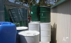 Steel drums, food grade, these drums have stored honey