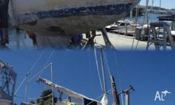 Steel yacht 25 feet fresh paint and anti foul all gear,