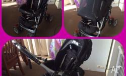 Steelcraft reverse handle pram for sale. In great