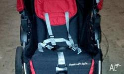 Used red colour Steelcraft Agile Stroller still in good
