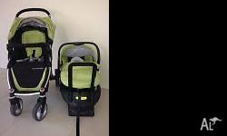 Steelcraft Agile 4 wheel stroller and Infant carrier