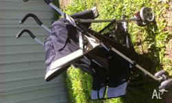 Used Steelcraft Double stroller for sale. Good used
