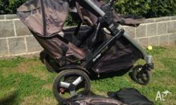 Steelcraft strider plus pram. Four wheels. Second seat.