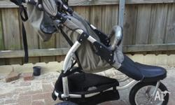 Steelcraft Transition 3 wheel Jogger Pram with Toddler