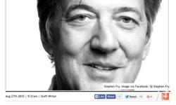 Stephen Fry - Telling Tales - sold out show in Arts
