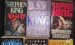 17 Stephen King novels in good reading condition. $4 a