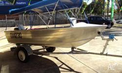 3.7 meter or 13 foot Stesco boat with gal trailer and