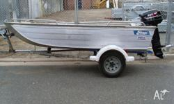STESSEL EDGE TRACKER 3.75M FITTED WITH PARSUN 30HP