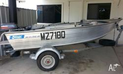 Stessl Edge Tracker 3.8 metre 25HP Yamaha Carpeted