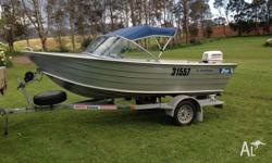 415 Stessl Sportsman with 30hp Johnson very low hours,