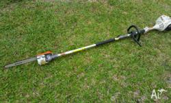Stihl KM55RZ CombiEngine chainsaw pole pruner in great