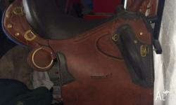 stock saddle with horn 17 in never used comes bare