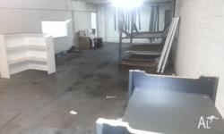 - Upstairs area at back of 500sqm warehouse in