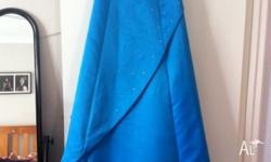 Stunning blue strapless formal gown. Size 8 worn once