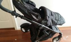 Strider compact pram and capsule 2 years old still it