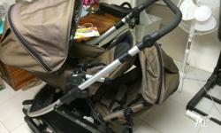STEELCRAFT STRIDER PLUS PRAM WITH SECOND SEAT PLUS BABY
