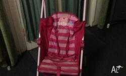 Pink stroller in great condition.