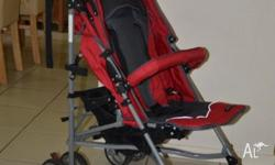 Stroller suitable for ages from 6 months to 4 years.