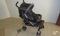 The Eden layback stroller features a large shopping