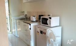 studio type room, shower and toilet, fully furnished,