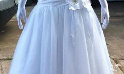A pure white deb or wedding dress, size 8 with