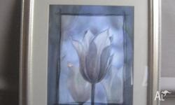 Like new, gorgeous Tulip framed picture. Frame is a