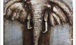 Stunning hand crafted, majestic Elephant Metal Wall