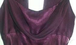 Stunning Ladies Burgundy Formal Gown, Size 8, with