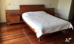 Stunning QUEEN BED +SIDE TABLES +MATTRESS Can Deliver