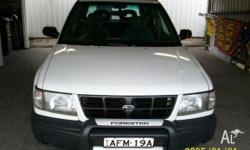 SUBARU,FORESTER,1997, WHITE, GREY trim, WAGON,