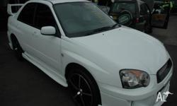 SUBARU, IMPREZA, GX AWD, 2004, WHITE, SEDAN, MANUAL,