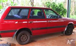 Subaru L Series 4WD Wagon, 1990 model. Serviced