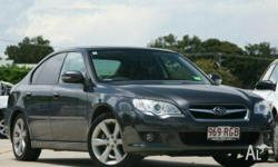 SUBARU,LIBERTY,MY08,2007, AWD, Grey, LEATHER trim, 4D