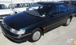 SUBARU,LIBERTY,1992, FWD, green, 4D SEDAN, 2212cc,