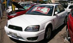 SUBARU,LIBERTY,2001, AWD, White Duco, 4D SEDAN, 2457cc,