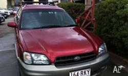 SUBARU,OUTBACK,3GEN MY00,1999, Maroon and Silver,