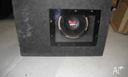 Car Stereo- NEW 4 channel Amplifier + 15 inch Subwoofer in box for