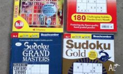 Sudoku puzzle books $4 only written in a little, been