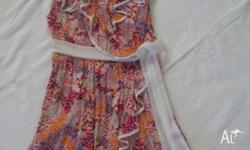 Sunny Girl Size 12 Floral Dress with tie Excellent