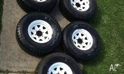 up for sale are my australian made TRAK rims and tyres.