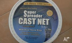 Fitec super spreader cast net. used on one fishing trip