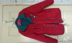 SUPER WARM JACKET Size:14 Red in colour as pictured