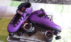 Purple Sure-Grip Roller Skates. Size 8. As new. Only