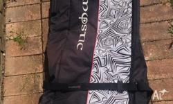 Surfboard bag on wheels. Inside is padded. Comes with